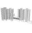 complex housing vector image vector image