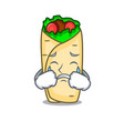 crying burrito mascot cartoon style vector image vector image
