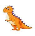 cute orange dinosaur character vector image vector image