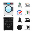 design of laundry and clean sign set of vector image