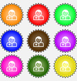 Doctor icon sign A set of nine different colored vector image vector image