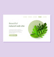 eco landing page template with green plants in vector image vector image