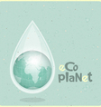 ecology concept Water planet vector image vector image
