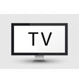 empty lcd screen plasma displays or tv for your vector image vector image