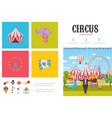 flat circus infographic concept vector image vector image