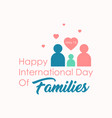 flat design international day families vector image vector image