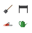 flat icon garden set of barbecue shovel bailer vector image vector image
