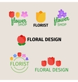 Floral and gardening logos vector image vector image