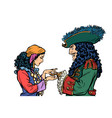fortune teller and pirate with a hook isolate on vector image