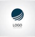 globe swirl technology logo vector image vector image