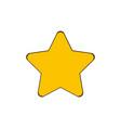 gold star - icon in cartoon design star icon vector image vector image
