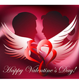 greeting card with lovers vs vector image vector image