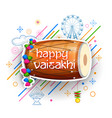 happy vaisakhi punjabi spring harvest festival of vector image vector image