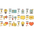 Human resources line icon set vector image vector image
