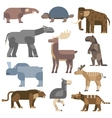 Ice age animals vector image