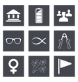 icons for web design set 33 vector image vector image