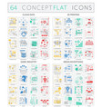 infographics concept icons of cloud data 3d vector image vector image