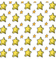 isolated star design vector image vector image