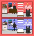 job vacancy banners vector image
