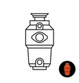 kitchen food waste disposer line icon garbage vector image