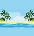 landscape background design seaside at daytime vector image vector image