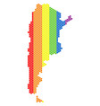 lgbt spectrum dotted argentina map vector image