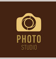 logo for photographer or photo studio vector image vector image