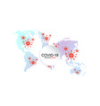 map pandemia spread coronavirus mers-cov vector image