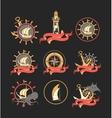 marine set badges vector image