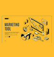 marketing e-commerce data analysis tool banner vector image vector image