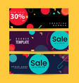 memphis style banner design set colorful vector image vector image