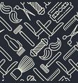 monochrome barber shop seamless pattern vector image