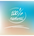 natural label logo 100 percent natural vector image vector image