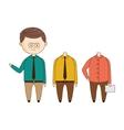 Office Worker Wardrobe Set vector image vector image