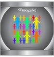 People new icon or logo vector image vector image