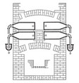 phosphorus distillation vintage vector image vector image