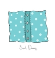 Pillow with buttons Cushion vector image vector image