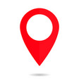 pin map icon drop place location red vector image vector image