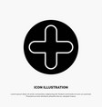 plus sign hospital medical solid glyph icon vector image vector image