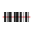 realistic barcode icon isolated vector image vector image