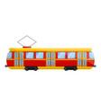 retro tram car icon cartoon style vector image vector image