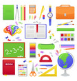 school students or pupil supplies vector image vector image