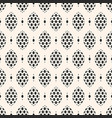 seamless elegant monochrome geometric pattern vector image vector image