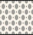 seamless elegant monochrome geometric pattern vector image vector image
