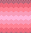 Seamless hearts zigzag pattern vector image