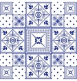 seamless patchwork background Navy blue vector image vector image