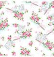 seamless pattern with letters and bouquets vector image vector image