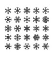set of different snowflakes isolated on white vector image vector image