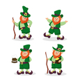 Set of red-haired Leprechauns for StPatricks Day vector image vector image