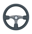 steering wheel car auto control icon vector image